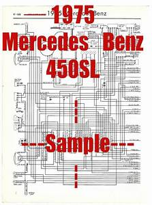 1975 Mercedes Benz 450sl Full Car Wiring Diagram  High