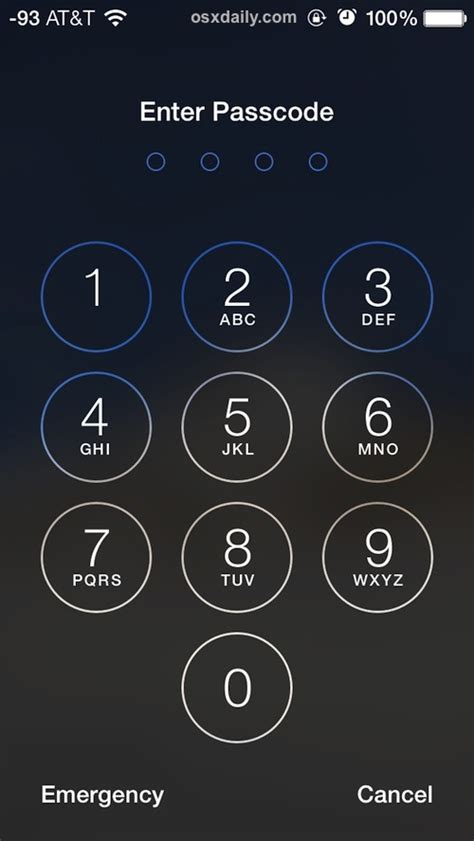 how to enable a passcode for iphone