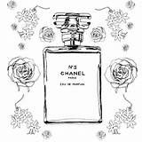 Chanel Perfume Coloring Coco Template Sketch Bottle Outline Drawing Rottura Testimonial N5 Parfum Colouring Bottles Dessin Result Perfumes Enregistree Eau sketch template