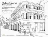 Coloring Pages French Quarter Summer Orleans Vacation Education Worksheet Mardi Gras Sheets Colouring Activities Adult Books Grade Places Worksheets Visit sketch template