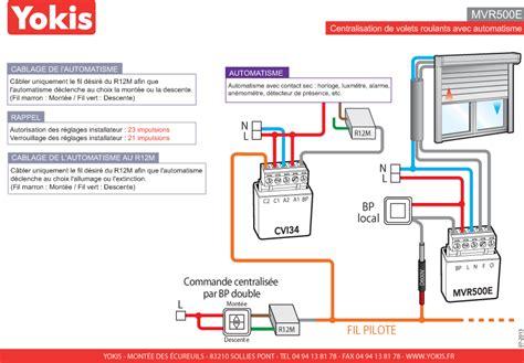 schema electrique volet roulant centralise