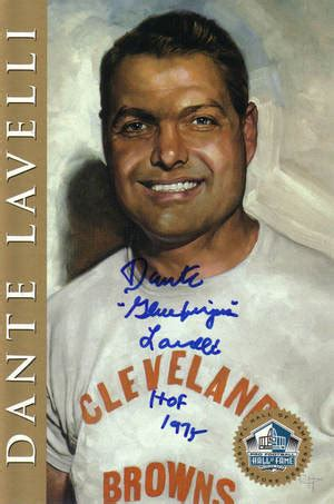 Dante Lavelli by Dante Lavelli Signed Of Fame Card Mix Browns Ebay