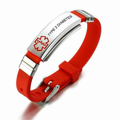 Medical Alert Bracelet Silicone Jewelry Wristbands Adults