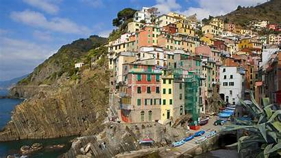 Italy Terre Cinque Widescreen Houses Wallpapers Architecture