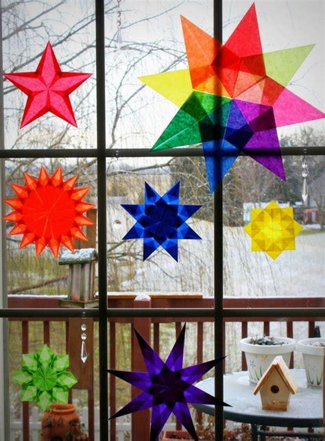Weihnachtsdeko Basteln Papier Fenster by Weihnachtsdeko F 252 R Fenster Sterne Aus Transparentpapier