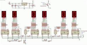 Digital Alarm Clock Using 4026 Logic Gates Schematic