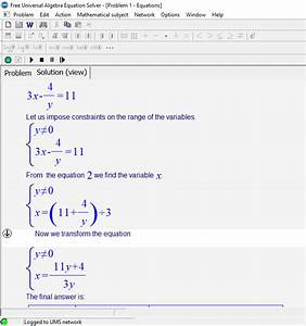 8 Best Free System Of Linear Equation Calculator For Windows