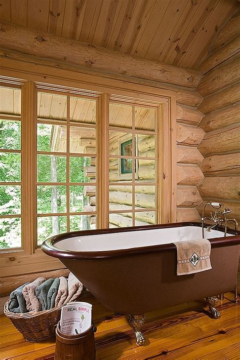Log Cabin Tub by Claw Foot Tub Log Cabin Log Cabin