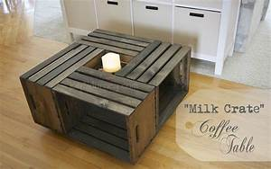 building a milk crate coffee table joy 2 journey With wooden crate coffee table for sale
