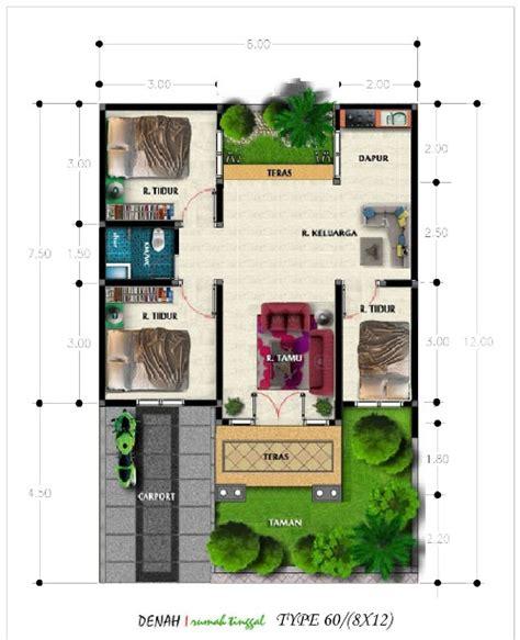 desain rumah minimalis modern  luas  meter