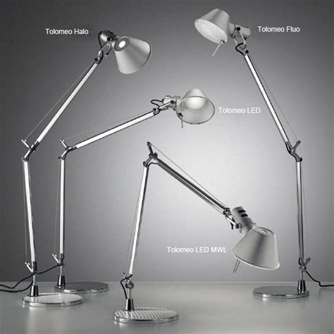 artemide tolomeo micro tavolo table l with base