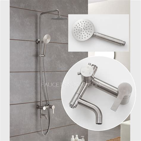 used kitchen faucets quality stainless steel brushed nickel outdoor shower faucets
