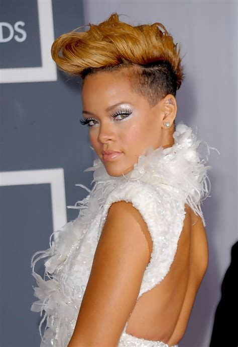 Faux Hawk Hairstyle For Women With Half Shaved Head