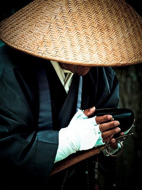 japanese man  straw hat praying hats photography