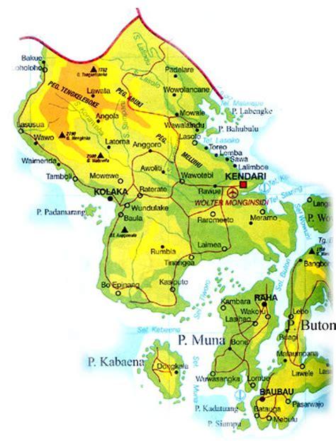 peta dan letak geografis wakatobi island