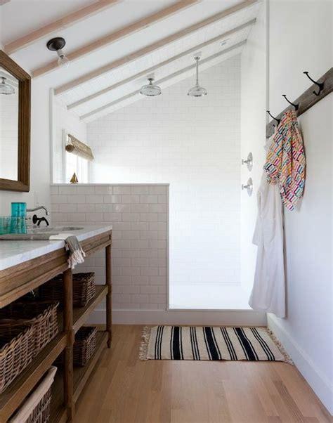 Wall Mount Magazine Rack Bathroom by Bathroom Sloped Ceiling Transitional Bathroom Lonny