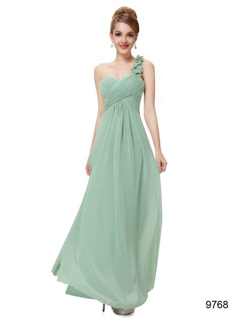 Flowers Sage Green One Shoulder Bridesmaid Dress 2017 ...