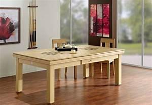 Table A Manger Salon : une table de billard convertible design dans votre salon ~ Teatrodelosmanantiales.com Idées de Décoration