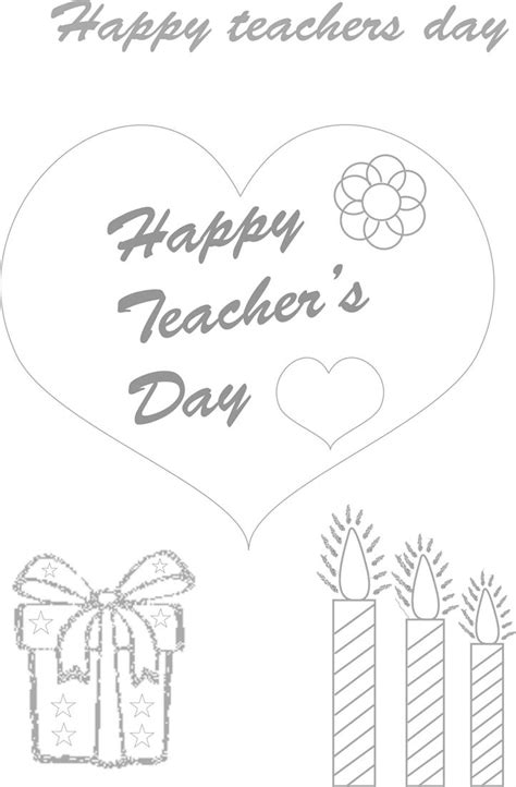 teachers day coloring worksheets  kids