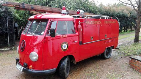 volkswagen fire 1960 s vw screen fire truck red black interior