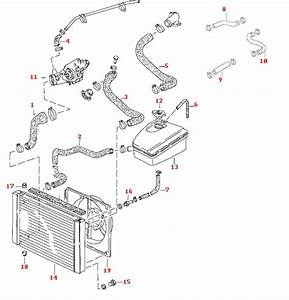 Porsche 944 Cooling Hose Kit  8 Valve