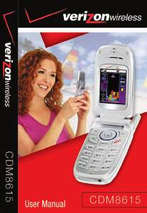 Verizon Cell Phone Cdm8615 User Guide