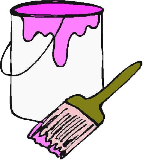 paint can clipart paint cans and brushes clip www imgkid the