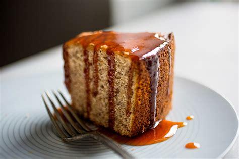 pecan coffee cake  warm caramel sauce recipe nyt cooking