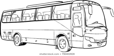 komban bus drawing photo