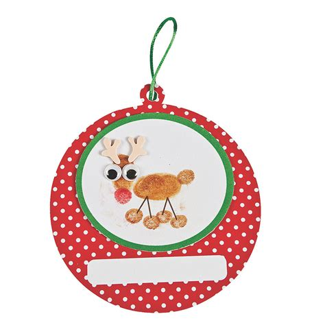 thumbprint reindeer christmas ornament craft kit