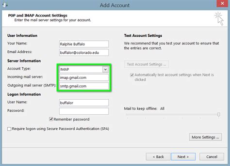 Office 365 Outlook Gmail Settings by How To Use Outlook With Gmail Import Gmail To Outlook