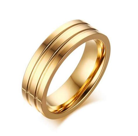 2017 new style plated 18k gold ring custom groove stainless steel engagement rings aliexpress