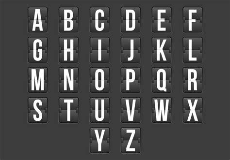 flip clock alphabet   vector art stock