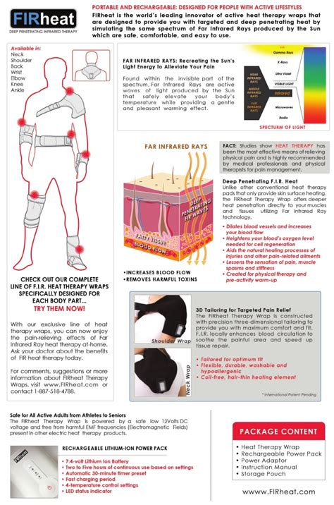 firheat rechargeable far infrared ray heat therapy products