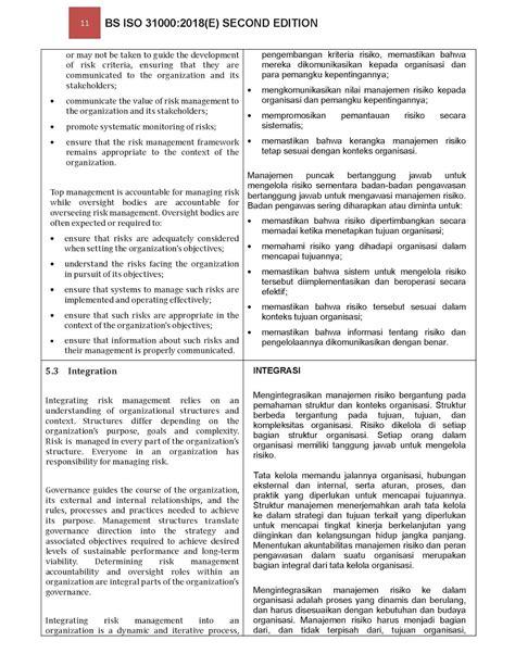 STANDARD MANAJEMEN RISIKO: ISO 31000 2018 SECOND EDITION