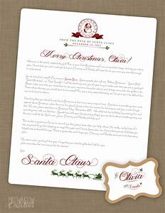 personalized printable letter from santa claus With custom letter from santa