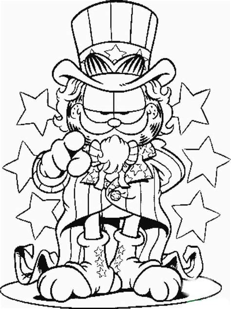 garfield coloring pages   print garfield