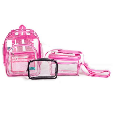 take it easy tote lunch bag clear handbags and clear backpacks the clear bag store
