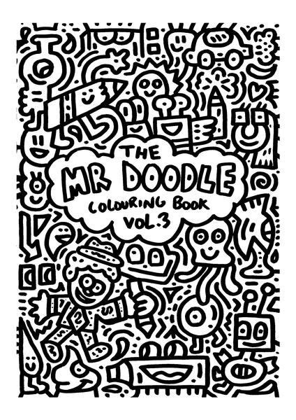 doodle colouring book volume  cute doodle coloring
