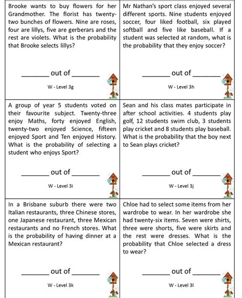 probability word problems worksheet with answers 9 best bmt probability images on pinterest