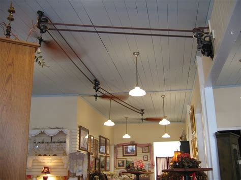 Belt Driven Ceiling Fans Diy by Ceiling Fans At Brewster Cafe These Were Neat A Modern