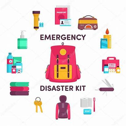 Emergency Disaster Kit Illustration Supplies Hurricane Vector
