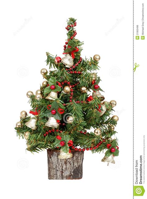 decorated mini christmas tree royalty free stock image
