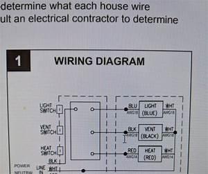 Wiring Diagram Heater Fan Light Combo