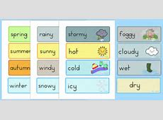 Weather and Seasons Day Calendar weather, seasons, calender