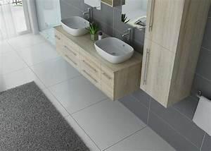 Meuble Double Vasque Suspendu : meuble de salle de bain suspendu double vasque meuble double vasque suspendu dis748sc ~ Melissatoandfro.com Idées de Décoration