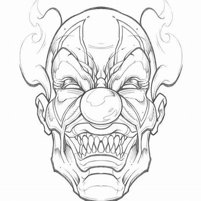 Scary Sweyda Clown Tattoo Drawings Drawing Sketches