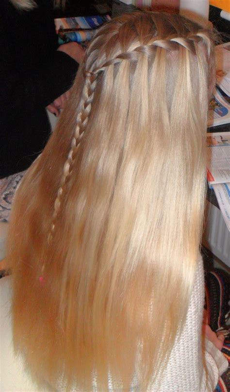 Long Blonde Hair Waterfall Braid I Want Her Hair