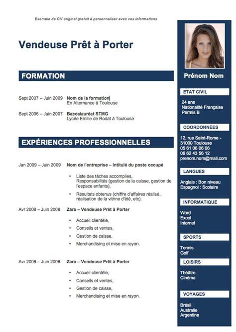 Exemple De Cv En Francais Pour Etudiant by Les 25 Meilleures Id 233 Es De La Cat 233 Gorie Cv 233 Tudiant Sur