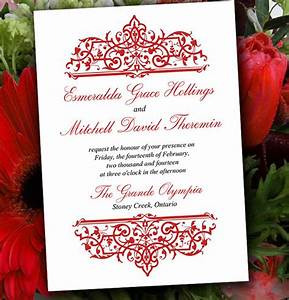 formal invitation template 33 free sample example With red blank wedding invitations templates
